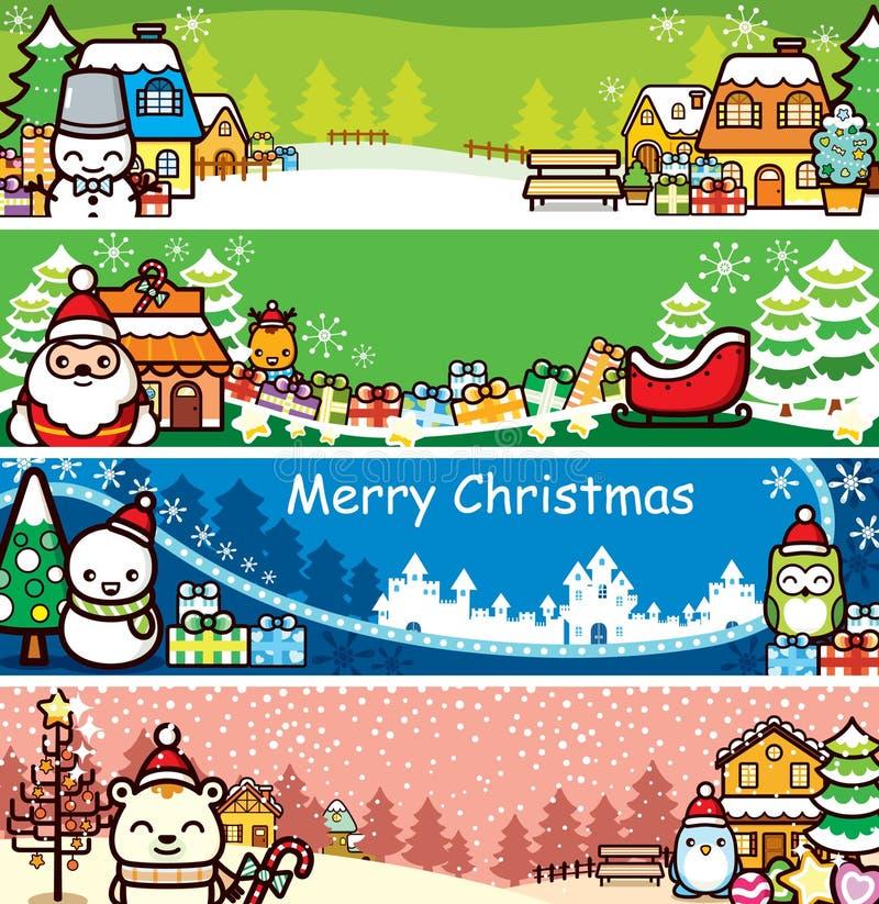 Bandera de la Navidad fotos de archivo libres de regalías
