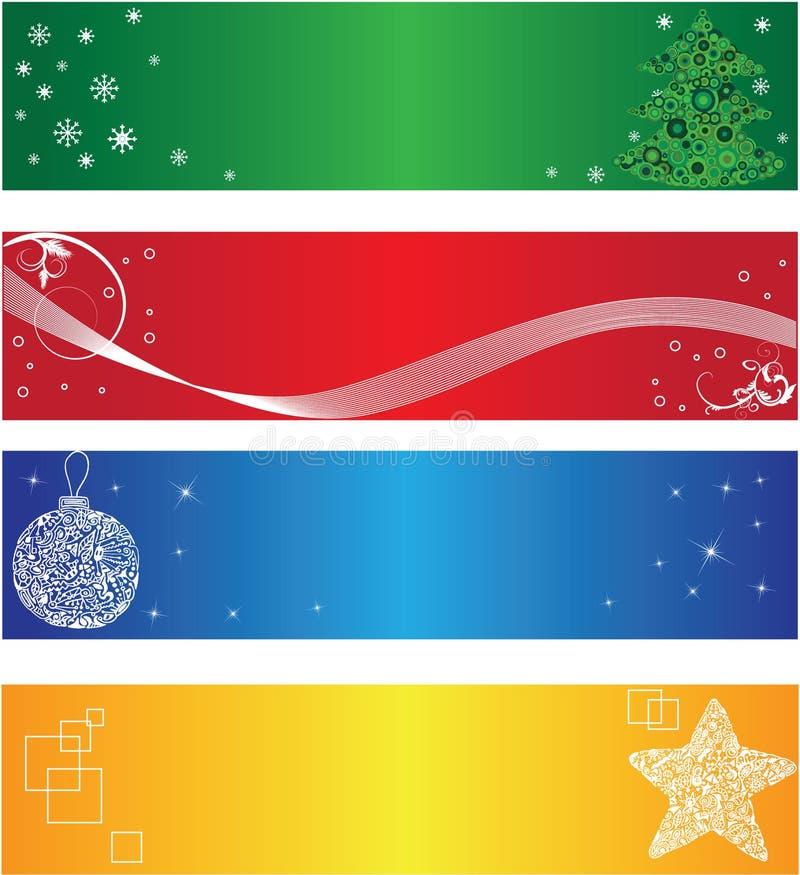 Bandera de la Navidad ilustración del vector