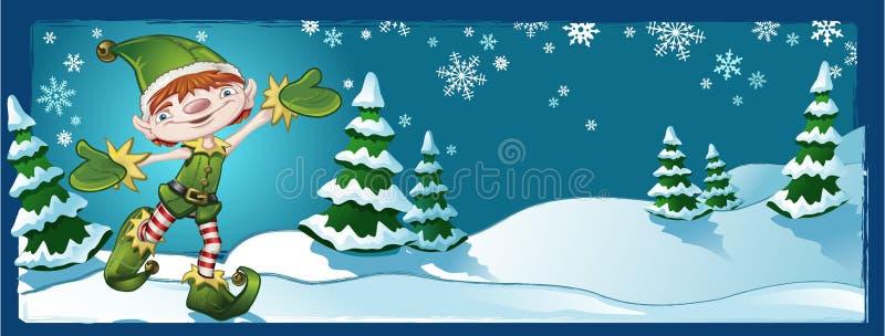 Bandera de la Navidad del duende libre illustration