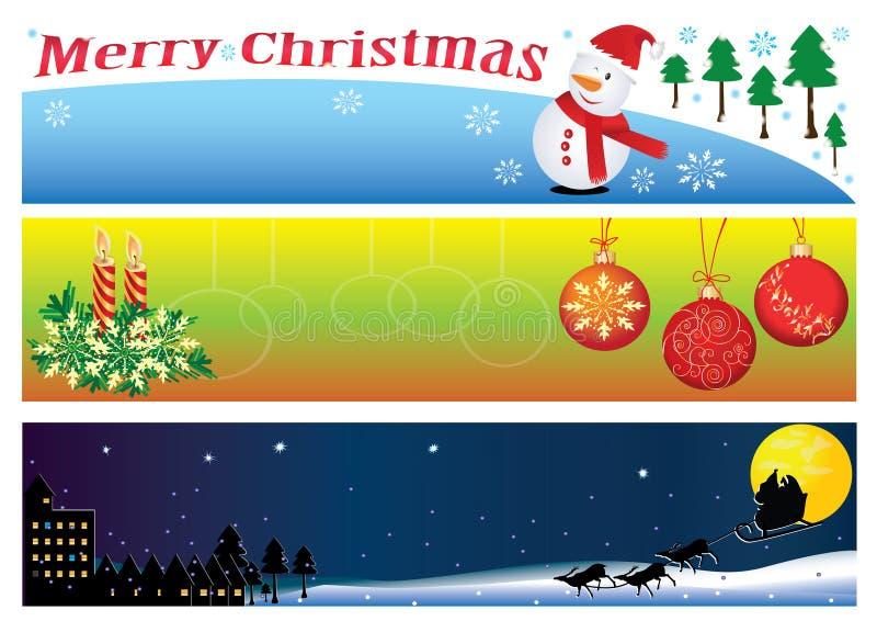 Bandera de la Navidad para el periodo de tiempo 3 ilustración del vector