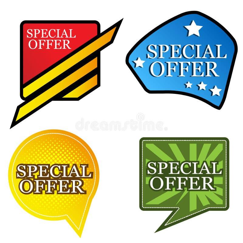 Bandera de la oferta especial diseños para los carteles, los fondos, las tarjetas, las banderas, las etiquetas engomadas, el etc ilustración del vector
