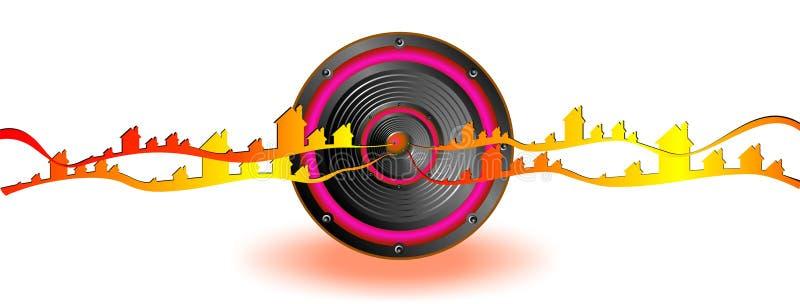 Bandera de la onda acústica libre illustration