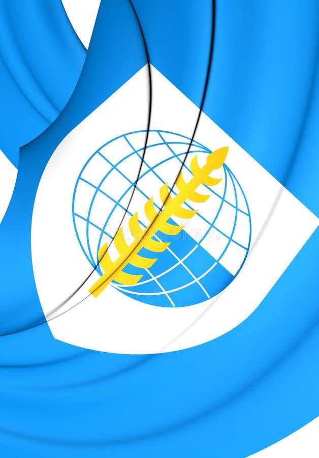 Bandera de la organización del tratado de Asia sudoriental stock de ilustración