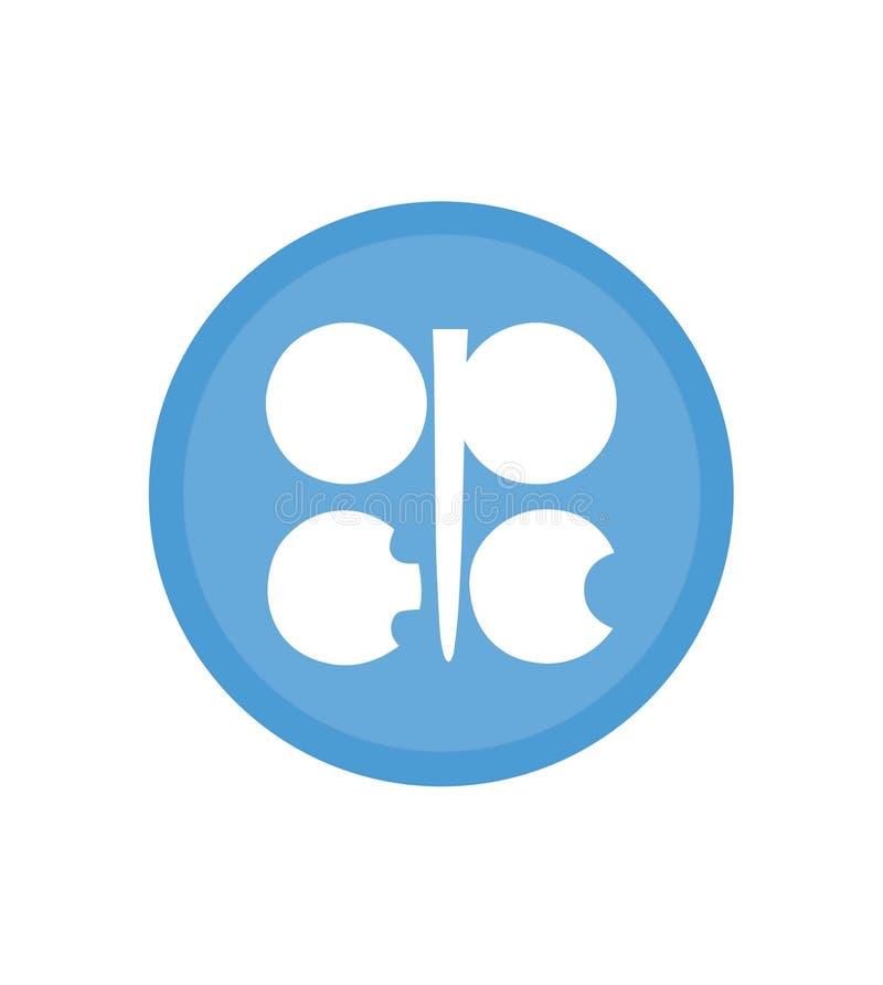Bandera de la organización de la OPEP de la bandera exportadora de petróleo de los países la OPEP ilustración del vector