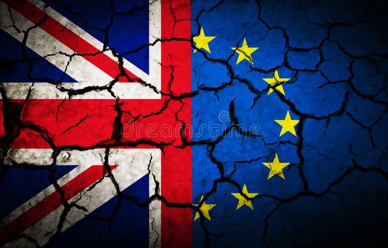 Bandera de la oscuridad de Reino Unido stock de ilustración