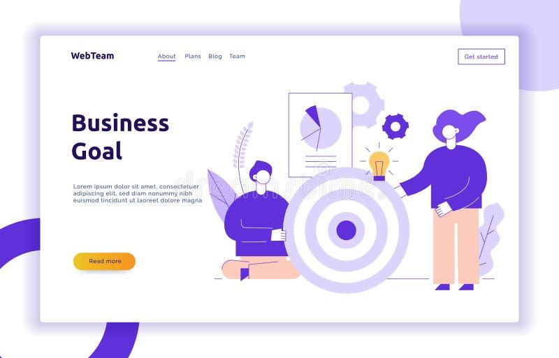 Bandera de la página web del trabajo en equipo y de la estrategia empresarial del vector libre illustration
