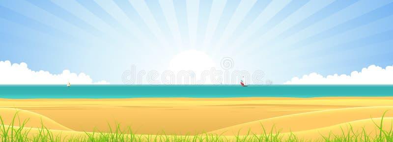 Bandera de la playa libre illustration