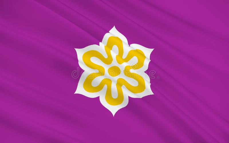 Bandera de la prefectura de Kyoto, Japón ilustración del vector