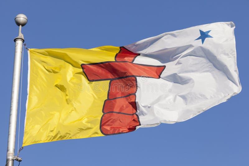 Bandera de la provincia de Nunavut, Canadá fotos de archivo libres de regalías