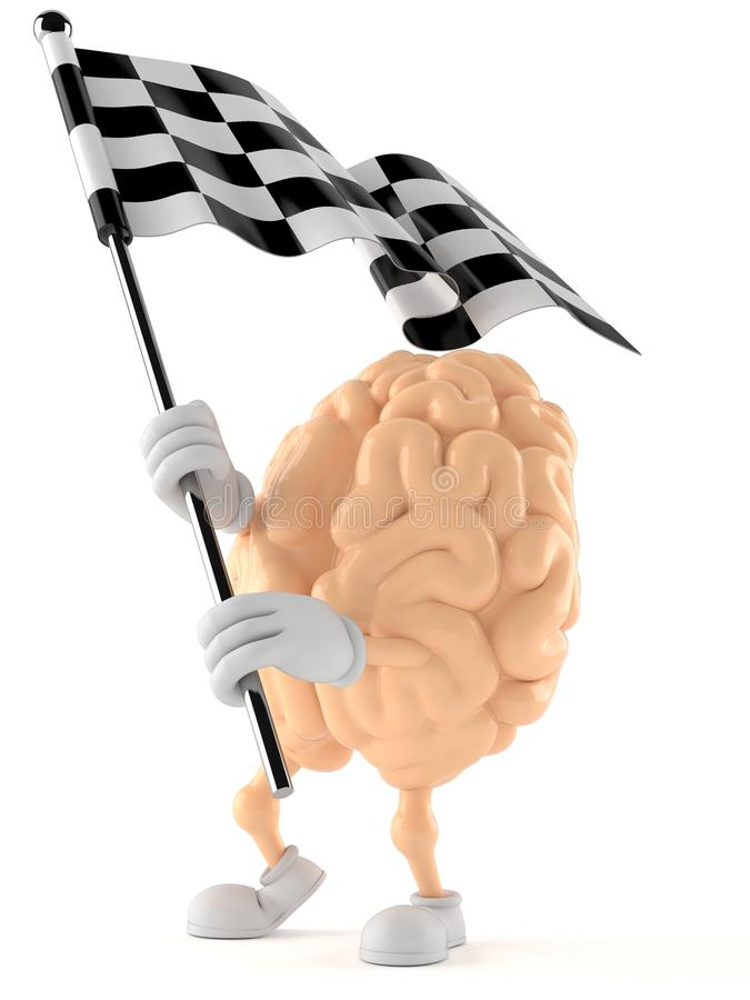 Bandera de la raza del carácter del cerebro que agita libre illustration