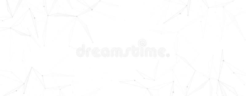 Bandera de la red en color gris claro con las líneas y los puntos del triángulo libre illustration