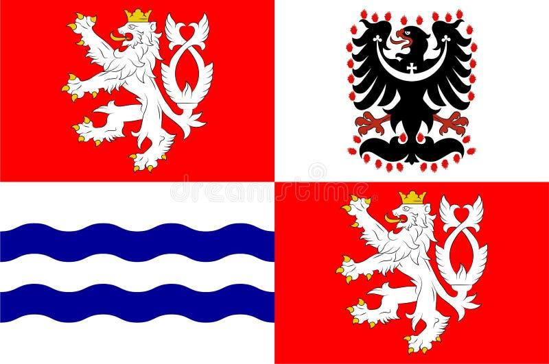 Bandera de la región de Bohemia Central en la República Checa ilustración del vector