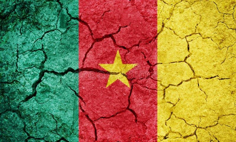 Bandera de la República de Camerún fotos de archivo libres de regalías