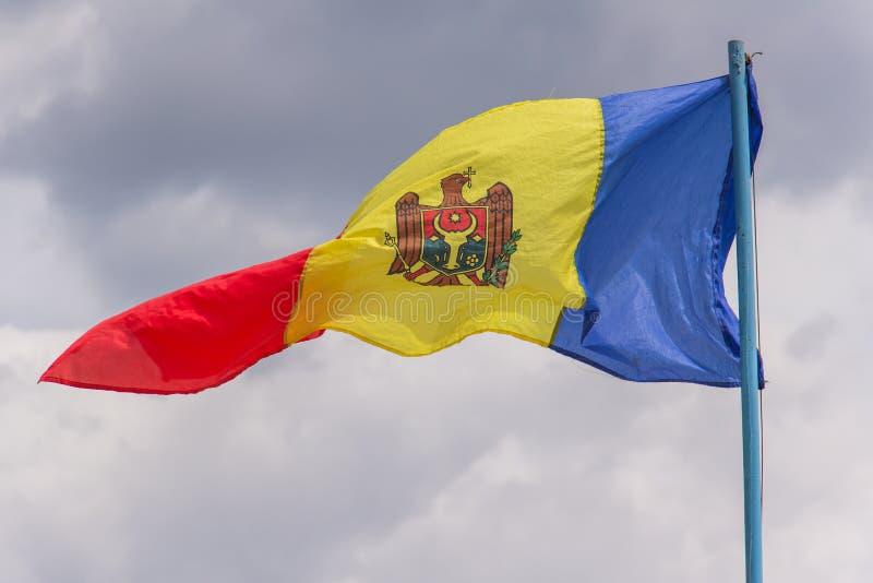 Bandera de la República del Moldavia imagenes de archivo