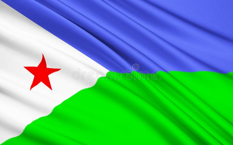Bandera de la República de Yibuti foto de archivo libre de regalías
