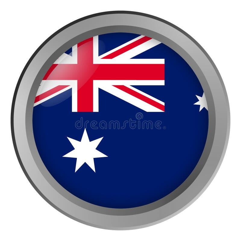 Bandera de la ronda de Australia como botón ilustración del vector
