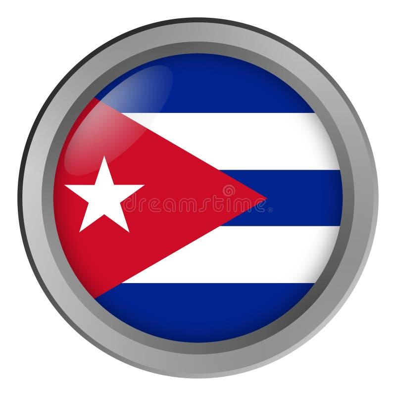 Bandera de la ronda de Cuba como botón libre illustration