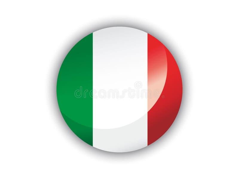 bandera de la ronda 3D de Italia libre illustration