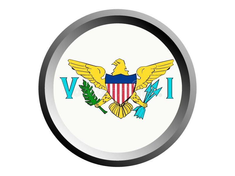 bandera de la ronda 3D de United States Virgin Islands stock de ilustración