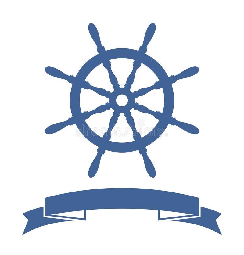 Bandera de la rueda de la nave ilustración del vector