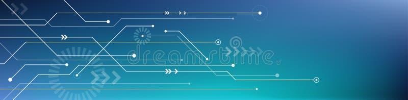 Bandera de la tecnología de Digitaces/fondo - ejemplo del vector ilustración del vector