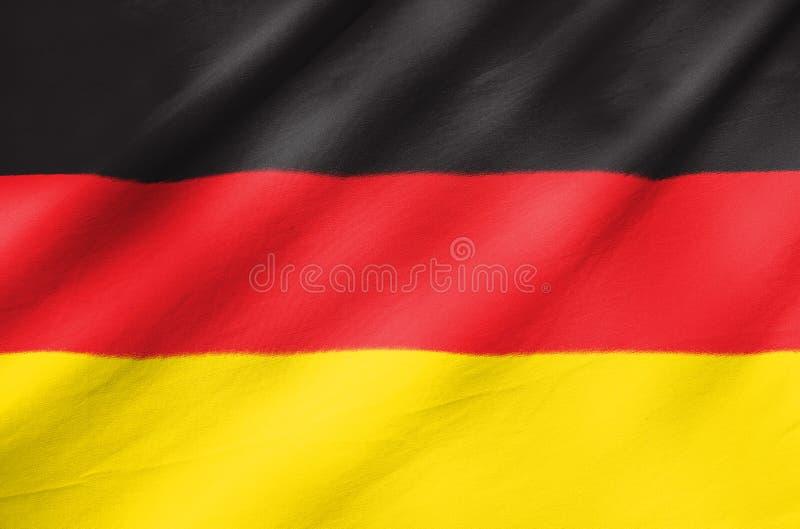Bandera de la tela de Alemania fotos de archivo