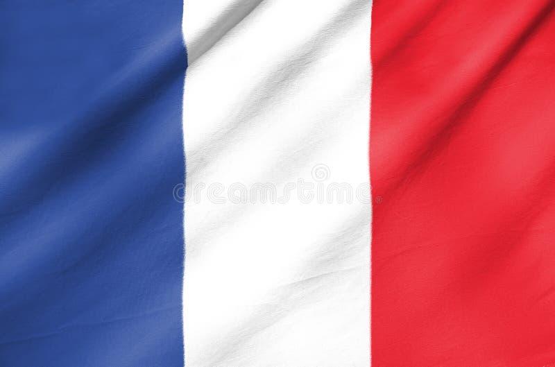 Bandera de la tela de Francia imagen de archivo