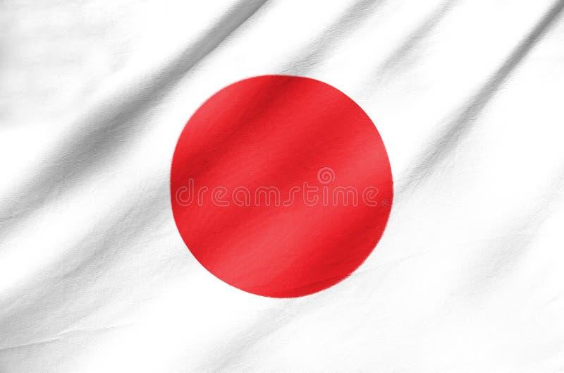 Bandera de la tela de Japón fotos de archivo