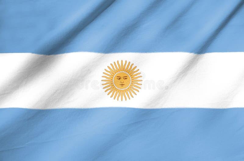 Bandera de la tela de la Argentina foto de archivo libre de regalías
