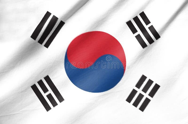 Bandera de la tela de la Corea del Sur fotos de archivo libres de regalías