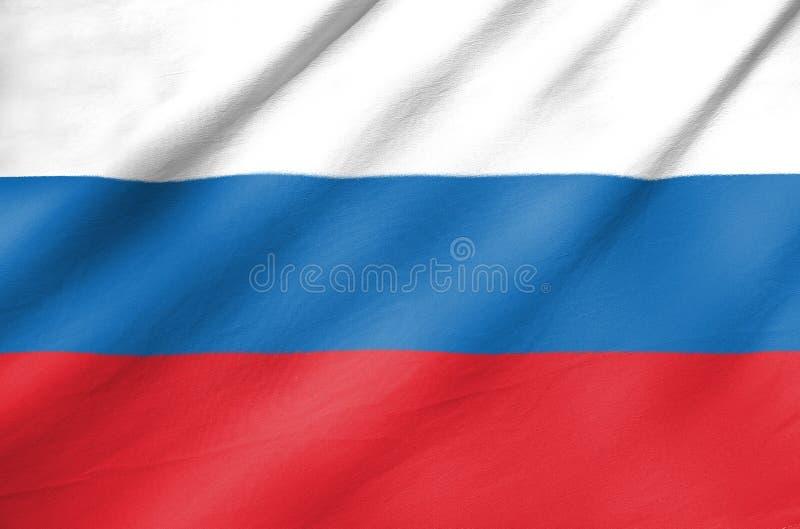 Bandera de la tela de Rusia fotos de archivo libres de regalías