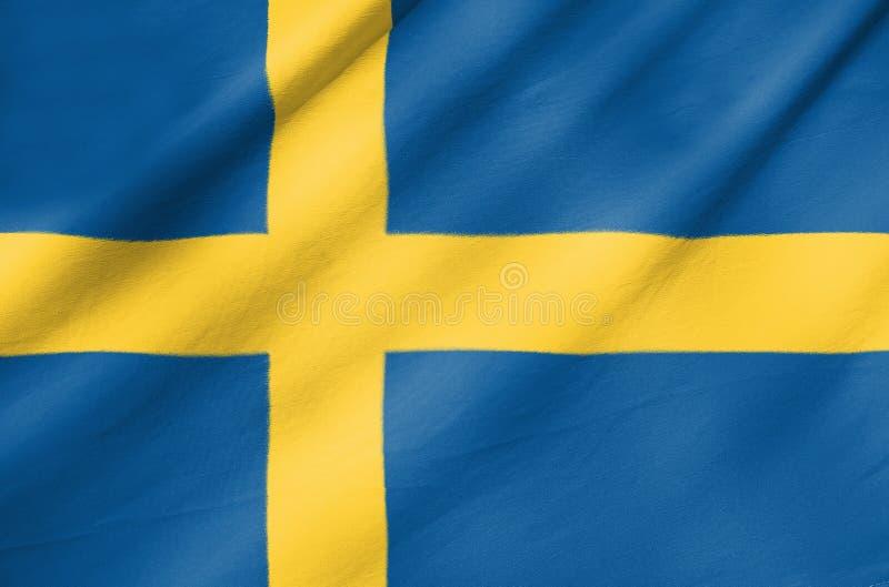 Bandera de la tela de Suecia imagenes de archivo
