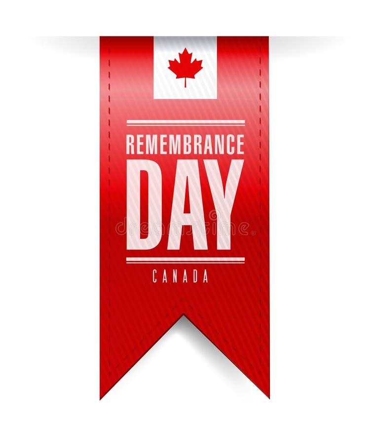 Bandera de la textura del día de la conmemoración de Canadá ilustración del vector