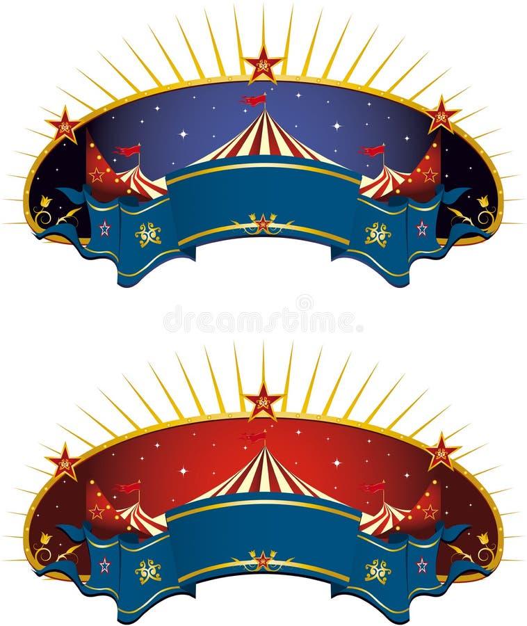 Bandera de la tienda de circo ilustración del vector