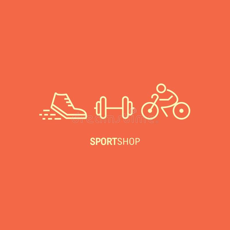 Bandera de la tienda del deporte ilustración del vector