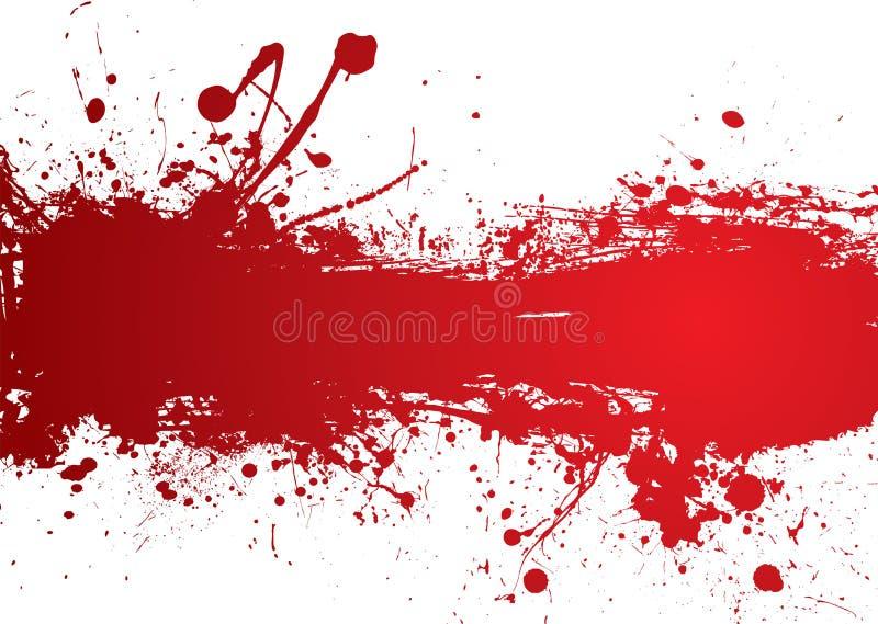 Bandera de la tira de la sangre stock de ilustración