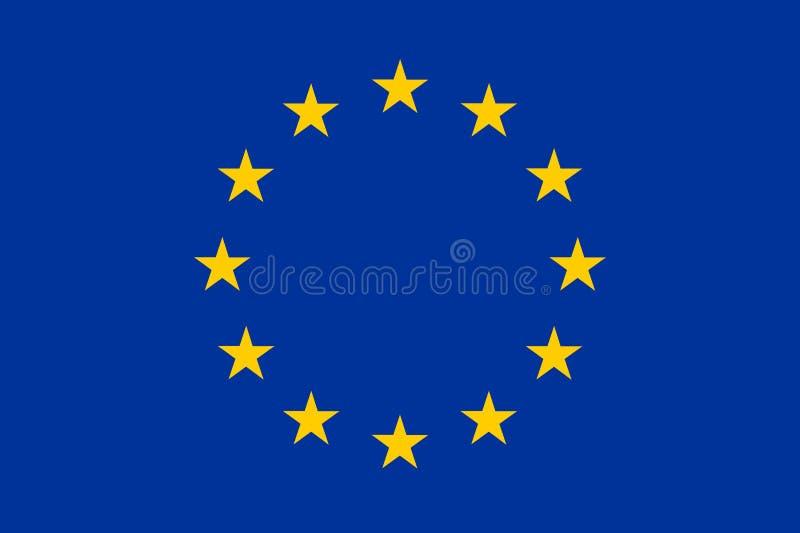 Bandera de la UE stock de ilustración