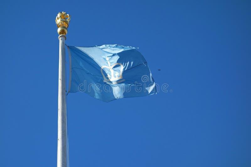 Bandera de la Universidad de Columbia imagen de archivo libre de regalías