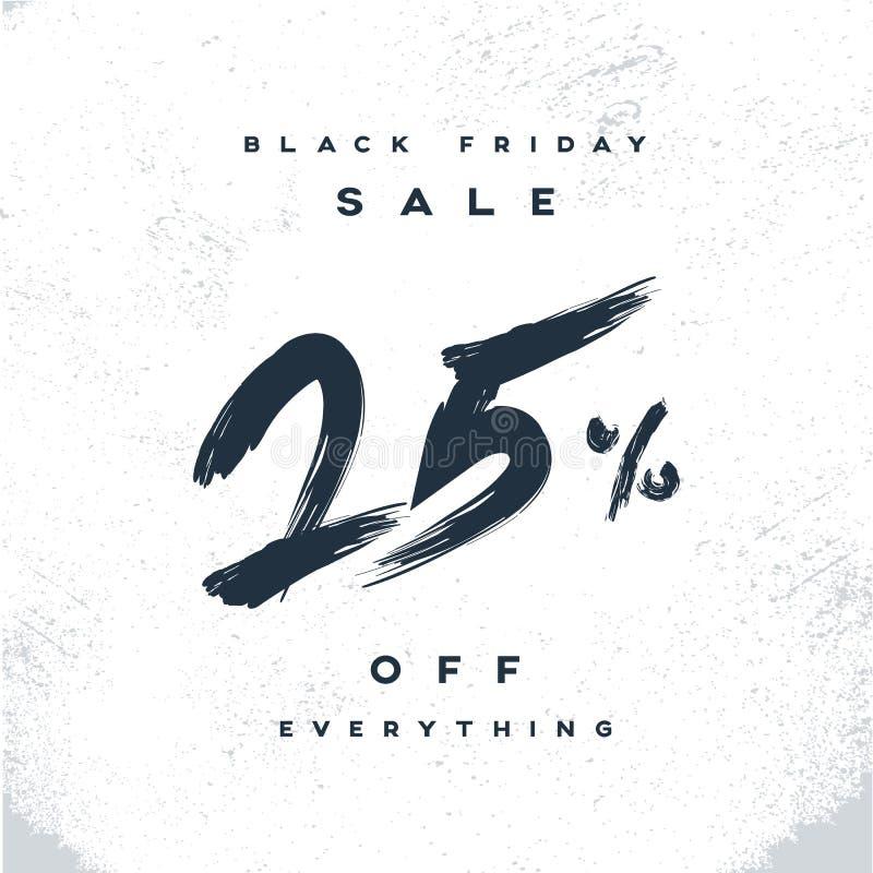 Bandera de la venta de Black Friday con descuentos del porcentaje en ofertas especiales Fondo del vector del cartel de las compra libre illustration