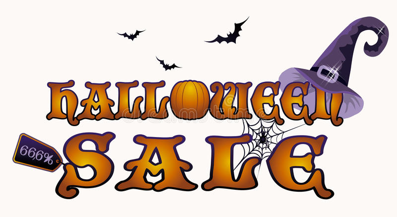 Bandera de la venta de Halloween, vector libre illustration
