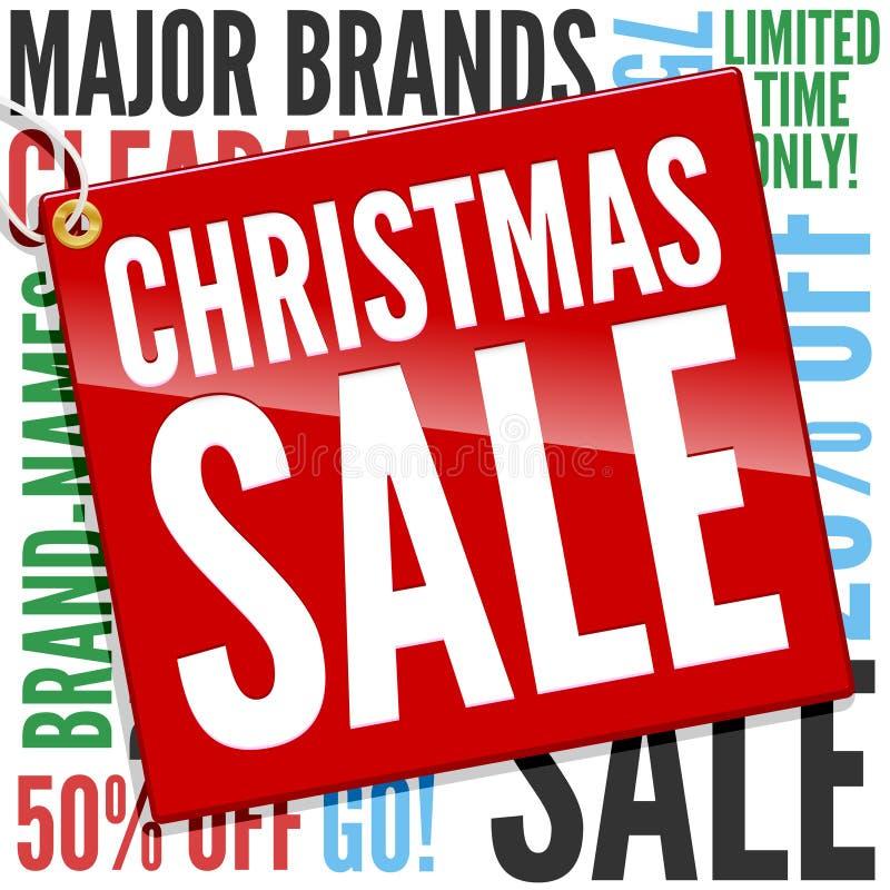 Bandera de la venta de la Navidad stock de ilustración