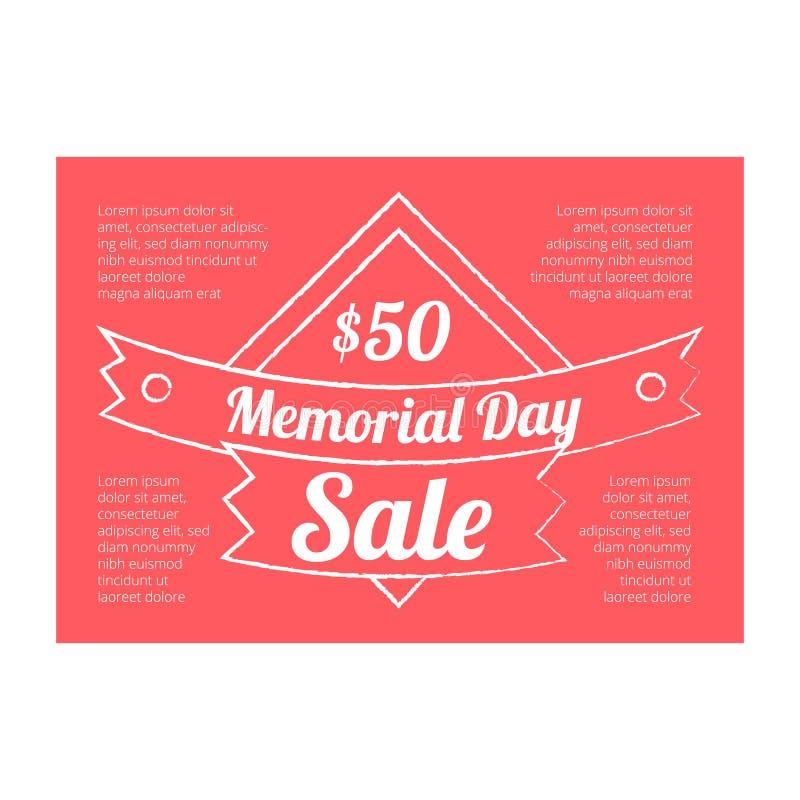 Bandera de la venta del Memorial Day libre illustration