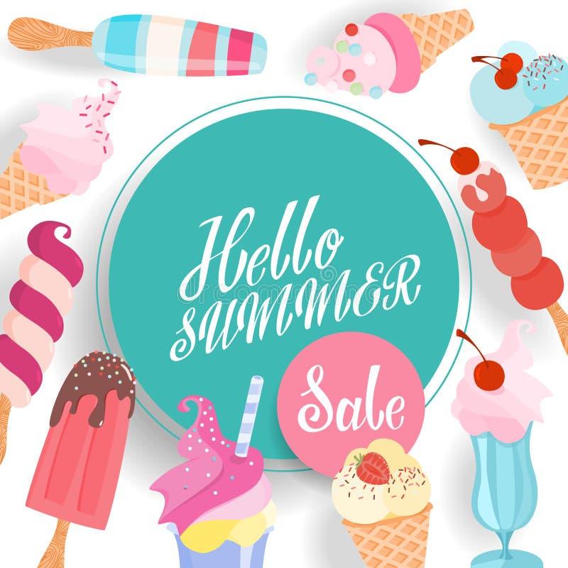 Bandera de la venta del verano libre illustration
