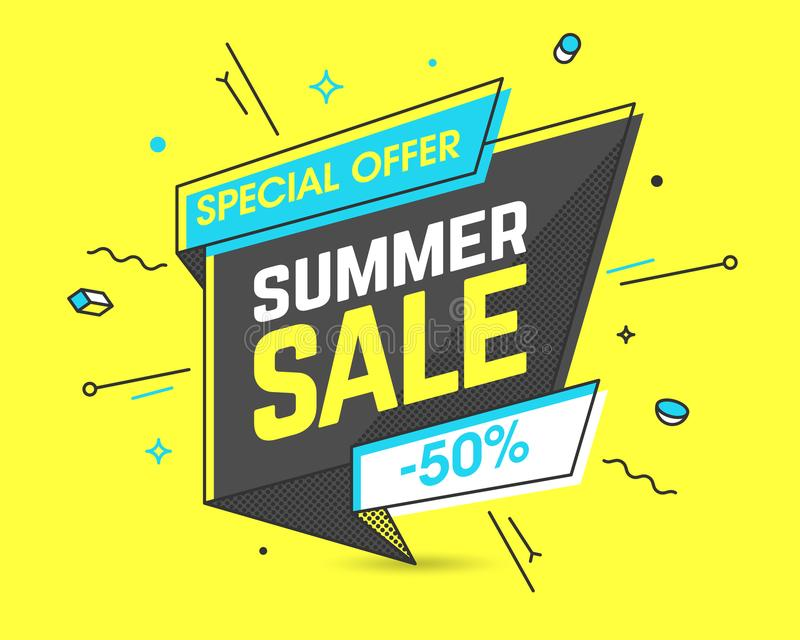 Bandera de la venta del verano stock de ilustración
