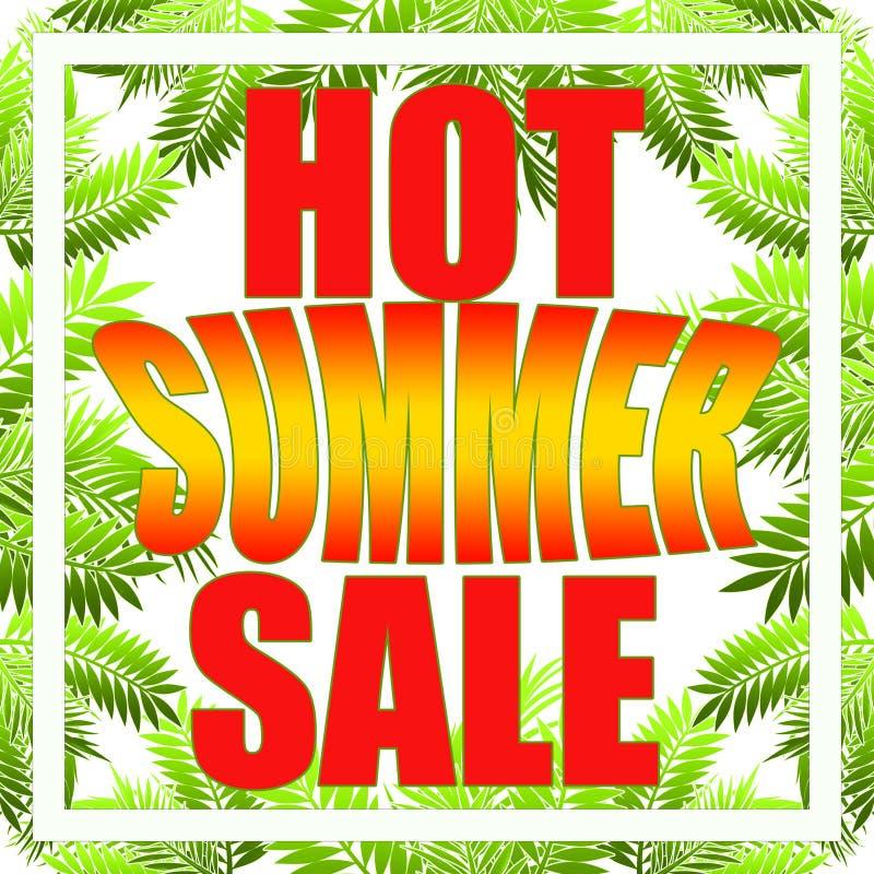 Bandera de la venta del verano para el folleto, aviador, cartel, haciendo publicidad del logotipo, prospecto para el dise?o de la stock de ilustración