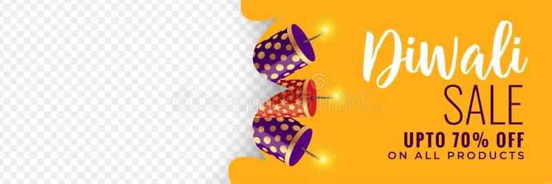Bandera de la venta de Diwali con las galletas libre illustration