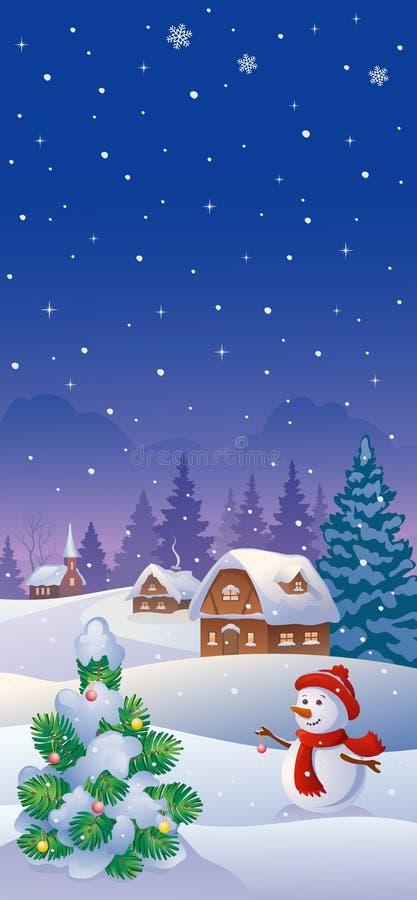 Bandera de la vertical de la Navidad libre illustration