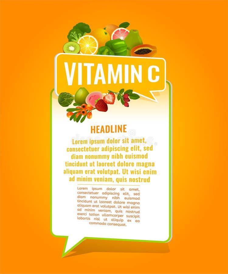 Bandera de la vitamina C libre illustration