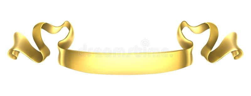 Bandera de la voluta del oro ilustración del vector
