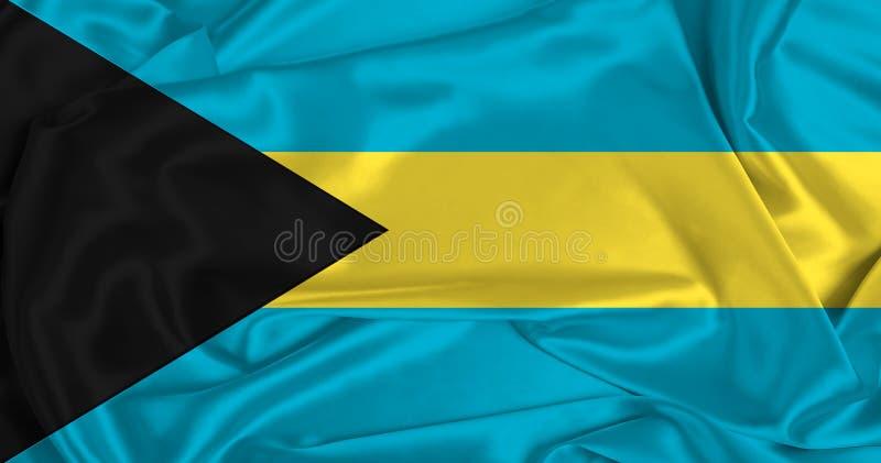 Bandera de las Bahamas de la seda imagen de archivo libre de regalías